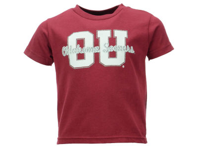 Oklahoma Sooners NCAA Toddler Girls Glitter Dots T-Shirt