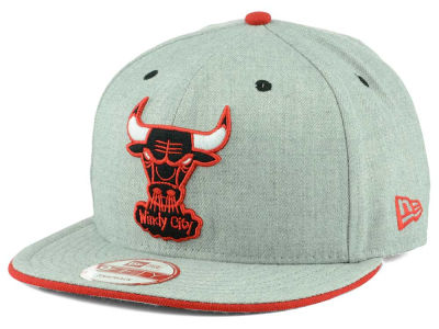Chicago Bulls New Era NBA HWC Heather Team Color 9FIFTY Snapback Cap
