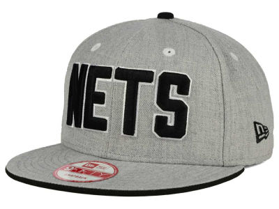 New Jersey Nets New Era NBA HWC Heather Team Color 9FIFTY Snapback Cap