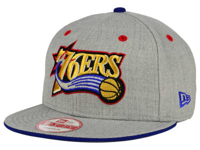 Philadelphia 76ers New Era NBA HWC Heather Team Color 9FIFTY Snapback Cap