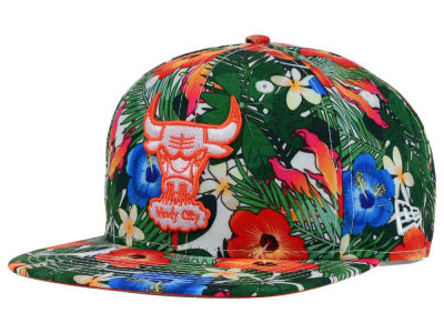 Chicago Bulls New Era NBA HWC Light Floral 9FIFTY Snapback Cap