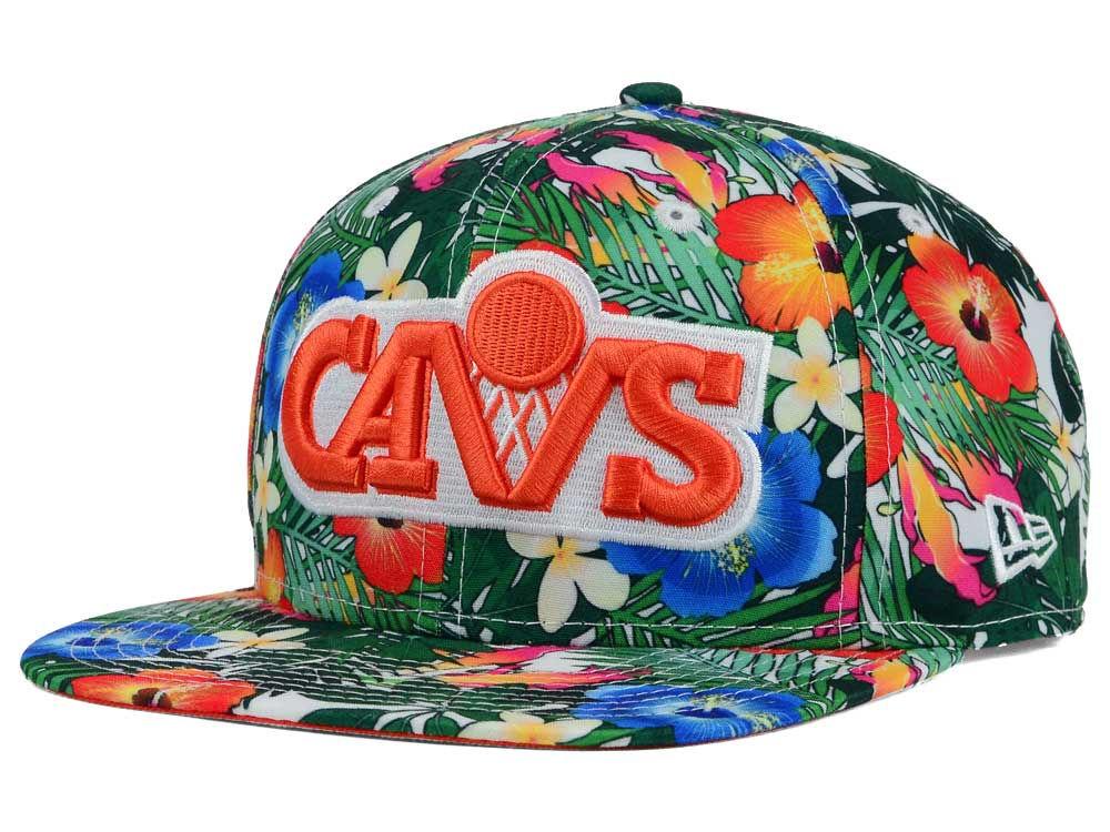 Cleveland Cavaliers New Era NBA HWC Light Floral 9FIFTY Snapback Cap ... 9cc828d1c41c