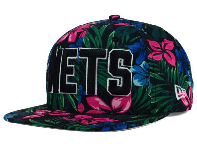 New Jersey Nets New Era NBA HWC Shadow Floral 9FIFTY Snapback Cap