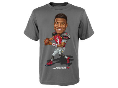 Tampa Bay Buccaneers Jameis Winston Outerstuff NFL Youth Caricature T-Shirt
