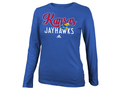 Kansas Jayhawks NCAA Girls Tail Sweep Bling Long Sleeve T-Shirt