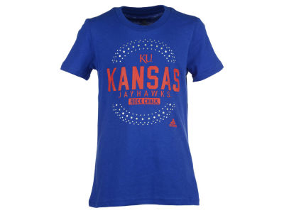 Kansas Jayhawks NCAA Girls Bling Circle Short Sleeve T-Shirt