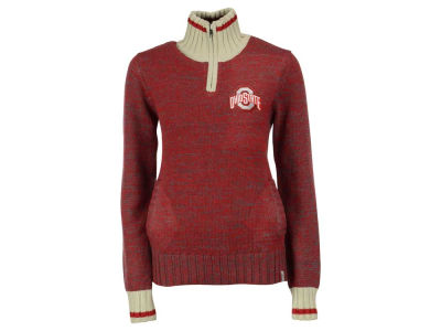 Ohio State Buckeyes NCAA Women's Work Sock 1/4 Zip Sweater