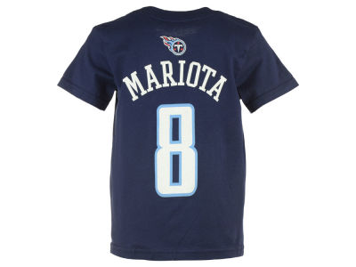 Tennessee Titans Marcus Mariota Outerstuff NFL Kids Mainliner Player T-Shirt