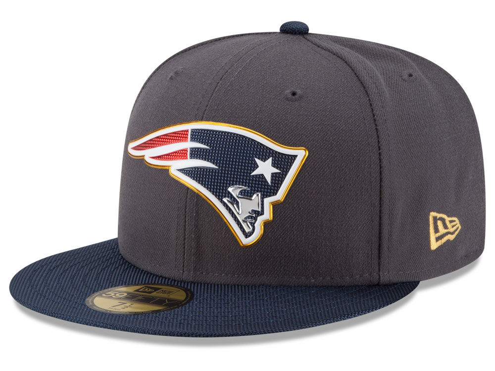 824f84be6c6 New England Patriots New Era NFL Gold Collection On Field 59FIFTY Cap