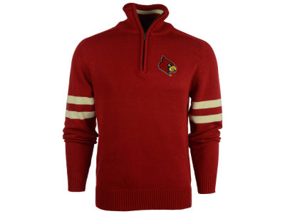 Louisville Cardinals NCAA Men's Halfback Quarter Zip Sweater