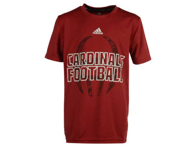 Louisville Cardinals adidas NCAA Youth Sideline Helmet Shock SS Climalite T-Shirt