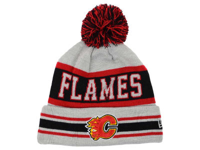 Calgary Flames New Era NHL 2015 Heather Jake Pom Knit