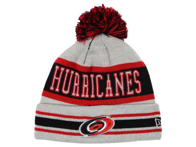 Carolina Hurricanes New Era NHL 2015 Heather Jake Pom Knit