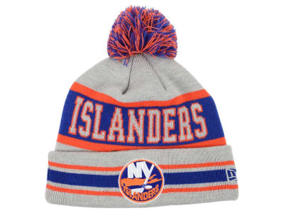 New York Islanders New Era NHL 2015 Heather Jake Pom Knit