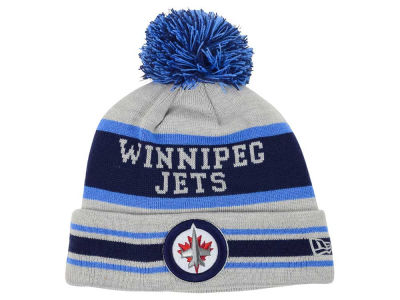Winnipeg Jets New Era NHL 2015 Heather Jake Pom Knit