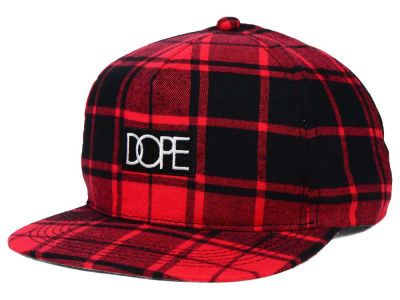 Dope Plaid Box Logo Snapback Hat