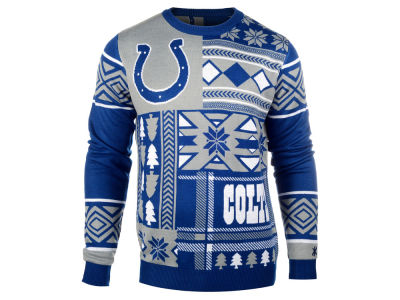 Indianapolis Colts La Tilda NFL Men's Patches Ugly Sweater