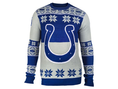 Indianapolis Colts La Tilda NFL Men's Big Logo Ugly Sweater