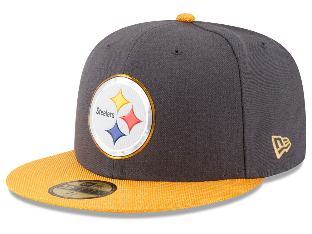 Pittsburgh Steelers New Era NFL Gold Collection On Field 59FIFTY Cap ... 69934bc51f1