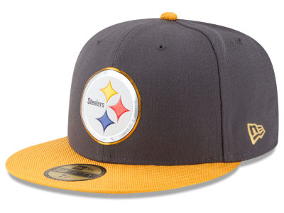 Pittsburgh Steelers New Era NFL Gold Collection On Field 59FIFTY Cap