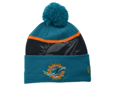 Miami Dolphins New Era NFL Gold Collection Team Color Knit