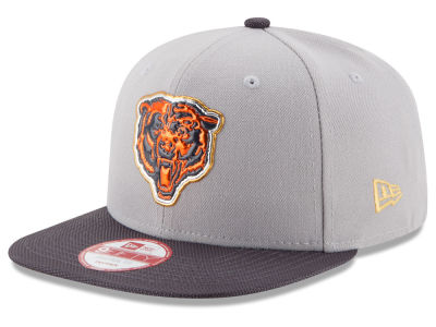 Chicago Bears New Era NFL Gold Collection Gray 9FIFTY Original Fit Snapback Cap