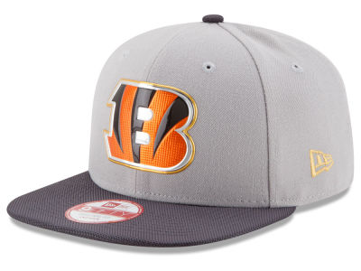 Cincinnati Bengals New Era NFL Gold Collection Gray 9FIFTY Original Fit Snapback Cap