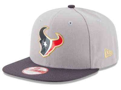 Houston Texans New Era NFL Gold Collection Gray 9FIFTY Original Fit Snapback Cap