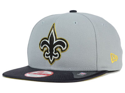 New Orleans Saints New Era NFL Gold Collection Gray 9FIFTY Original Fit Snapback Cap