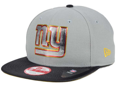 New York Giants New Era NFL Gold Collection Gray 9FIFTY Original Fit Snapback Cap
