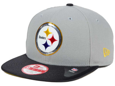 Pittsburgh Steelers New Era NFL Gold Collection Gray 9FIFTY Original Fit Snapback Cap