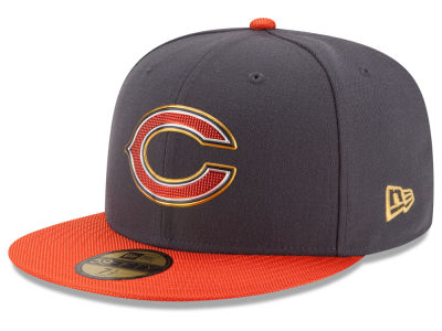 Chicago Bears New Era NFL Youth Gold Collection On Field 59FIFTY Cap