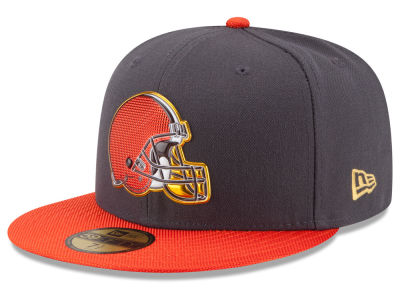 Cleveland Browns New Era NFL Youth Gold Collection On Field 59FIFTY Cap