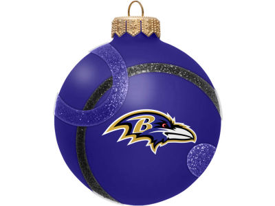 Baltimore Ravens 3inch Traditional Ball Circle Pattern Ornament