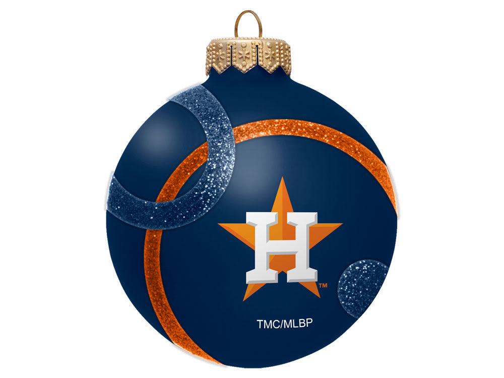 houston astros 3inch traditional ball circle pattern ornament