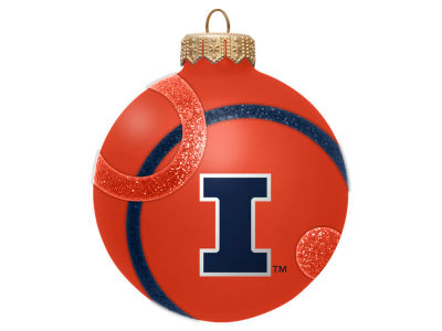 Illinois Fighting Illini 3inch Traditional Ball Circle Pattern Ornament