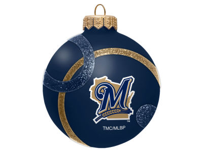 Milwaukee Brewers 3inch Traditional Ball Circle Pattern Ornament