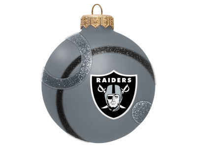 Oakland Raiders 3inch Traditional Ball Circle Pattern Ornament