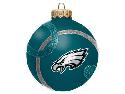 Philadelphia Eagles 3inch Traditional Ball Circle Pattern Ornament