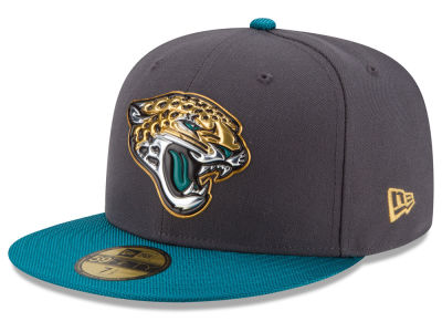 Jacksonville Jaguars New Era NFL Youth Gold Collection On Field 59FIFTY Cap