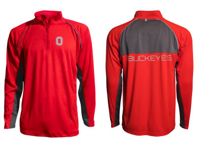 Ohio State Buckeyes NCAA Men's Colorblock Reflective 1/4 Zip Jacket