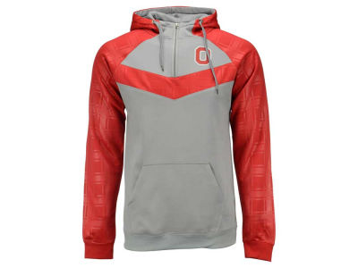 Ohio State Buckeyes NCAA Men's Colorblock Poly 1/4 Zip Hoodie