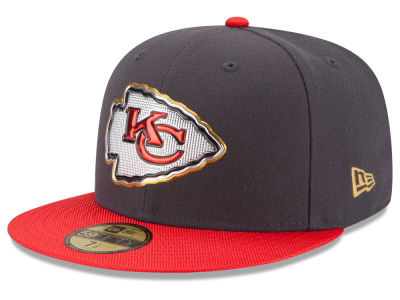 Kansas City Chiefs New Era NFL Youth Gold Collection On Field 59FIFTY Cap