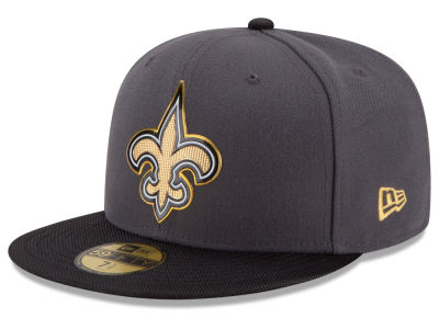 New Orleans Saints New Era NFL Youth Gold Collection On Field 59FIFTY Cap