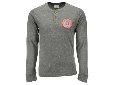Ohio State Buckeyes NCAA Men's Vintage Twisted Slub Henley Shirt