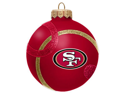 San Francisco 49ers 3inch Traditional Ball Circle Pattern Ornament