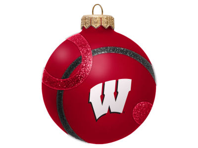 Wisconsin Badgers 3inch Traditional Ball Circle Pattern Ornament