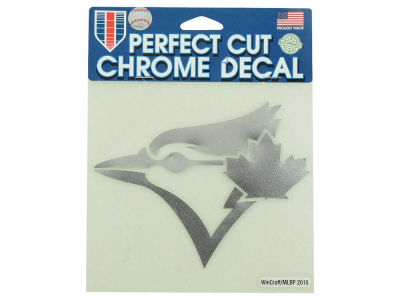 "Toronto Blue Jays Die Cut Decal 6""x6"" Chrome"