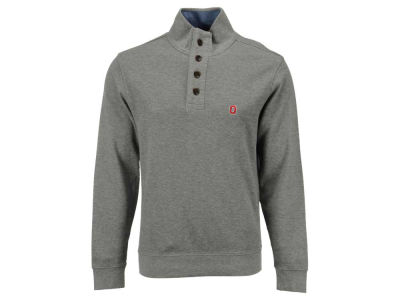 Ohio State Buckeyes NCAA Men's Brooks Bros Button Mock Neck Sweater