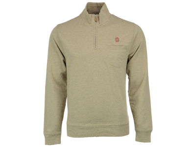 Ohio State Buckeyes NCAA Men's Brooks Bros 1/4 Zip Mock Neck Sweater